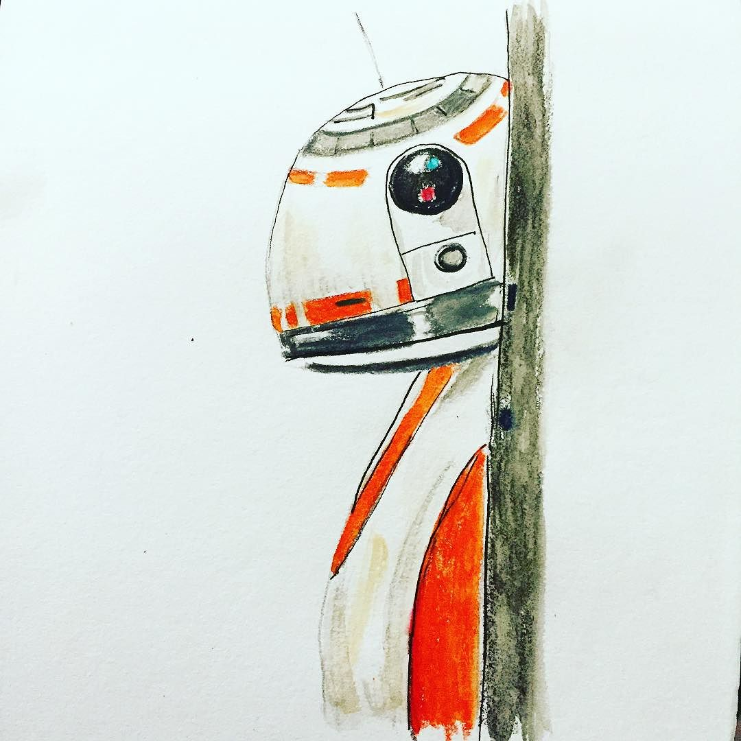 Peek_a_boo__bb8__theforceawakens__starwars__watercolorpencils__sketching (1)