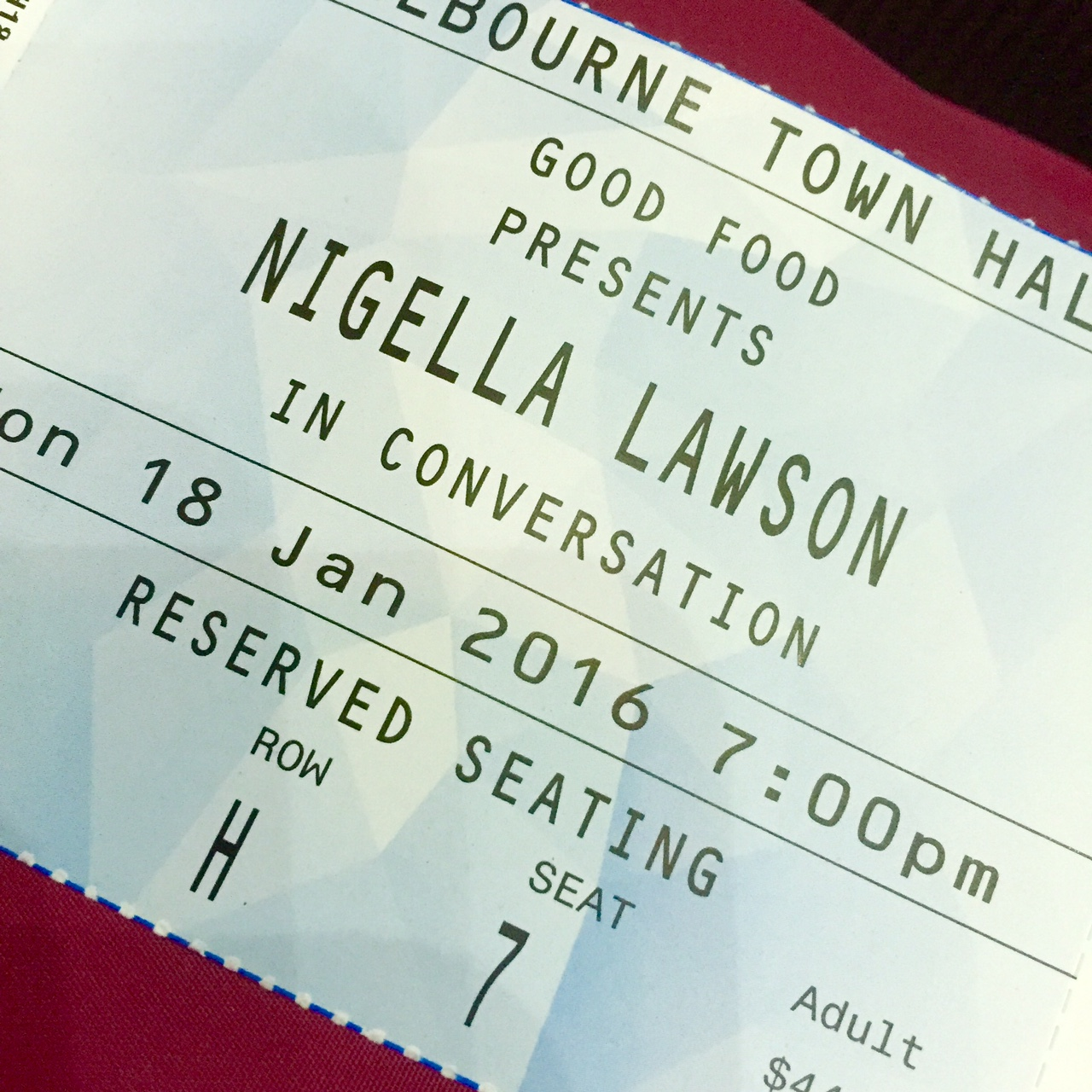 Nigella at the town hall